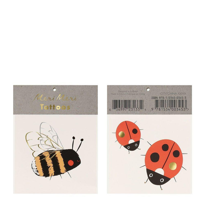 Meri Meri Bee & Ladybird  Tattoos | Putti Party Supplies