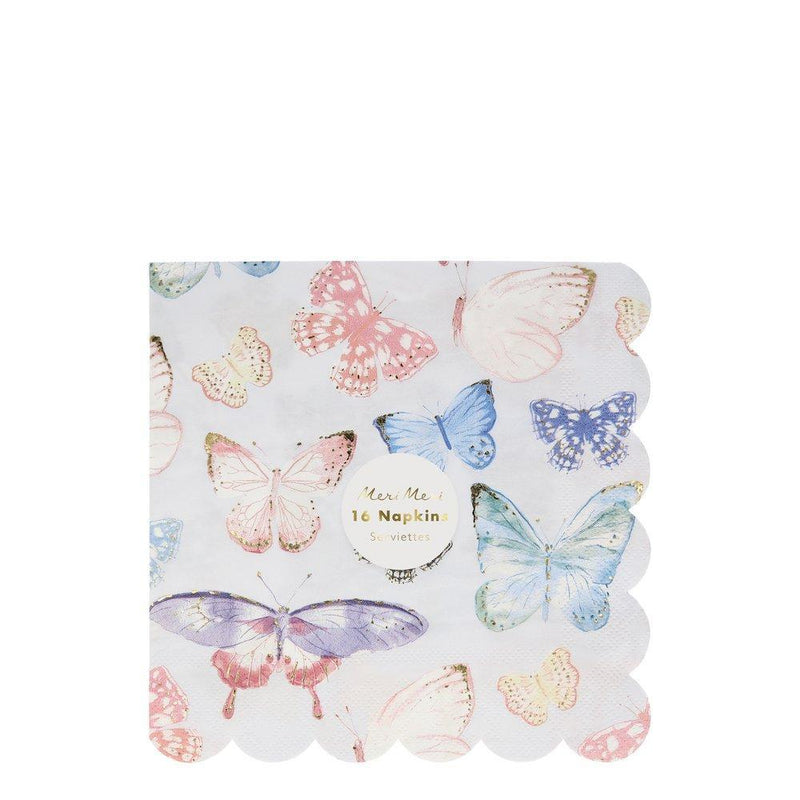 Meri Meri Butterfly Paper Napkins - Large | Putti Party Supplies