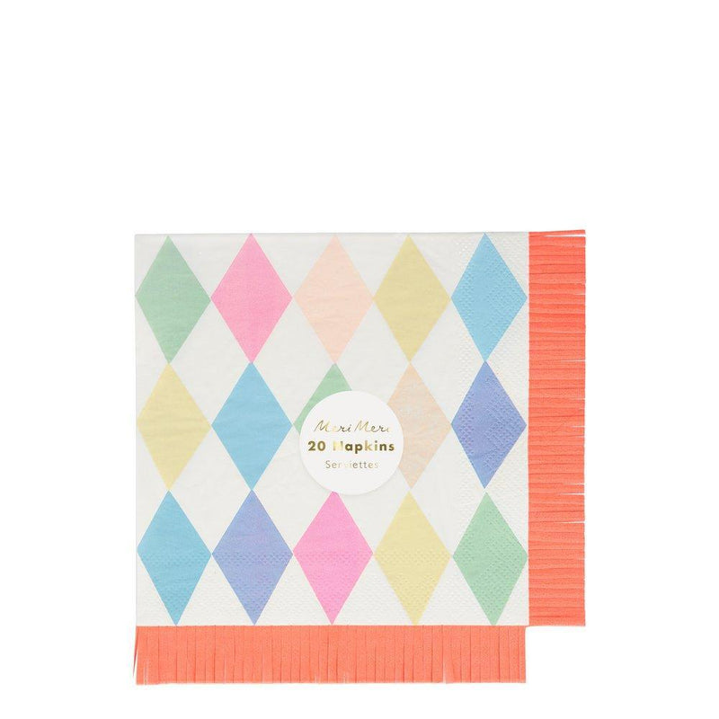 Meri Meri Circus Fringe Paper Napkins - Large | Putti Party Supplies