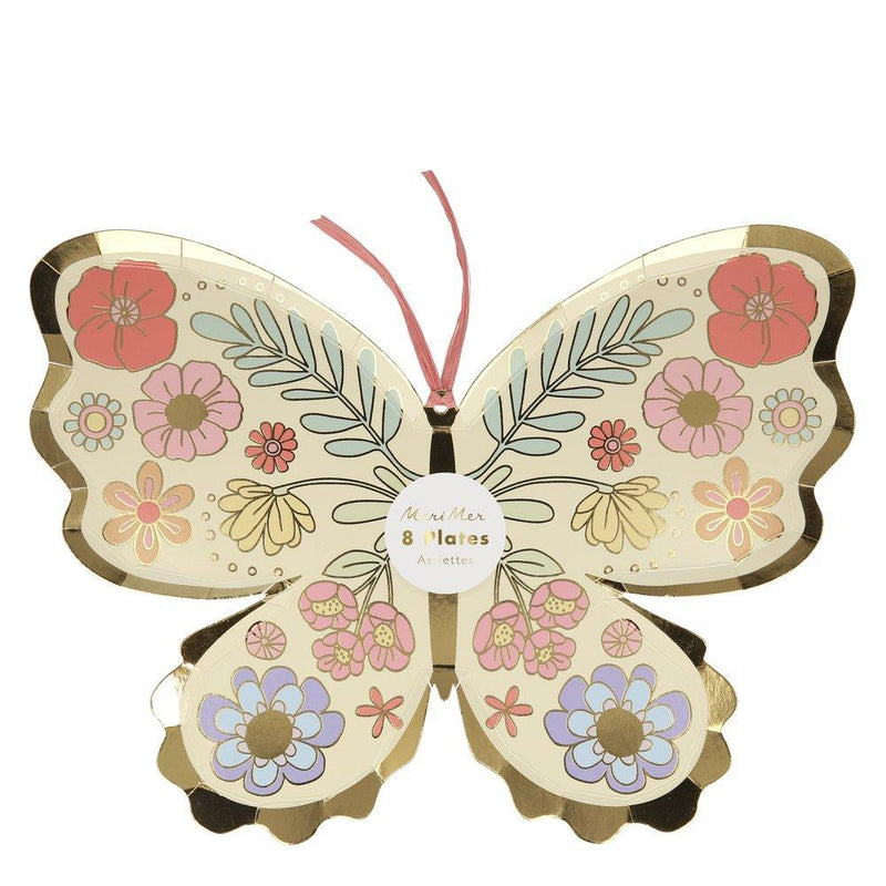 Meri Meri Die Cut Butterfly Paper Dinner Plates | Putti Party Supplies