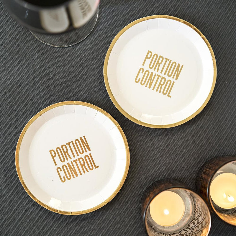 """Portion Control"" Canape Plates, TT-Talking Tables, Putti Fine Furnishings"