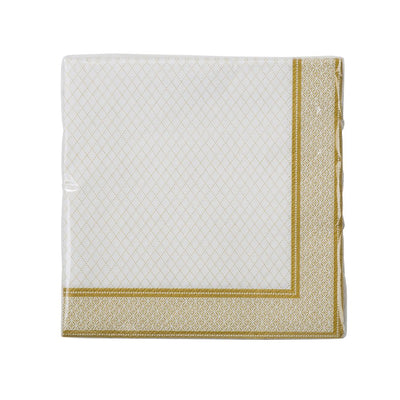 Party Porcelain Gold Paper Cocktail Napkins, TT-Talking Tables, Putti Fine Furnishings