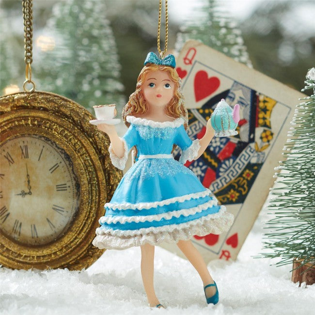 Alice in Wonderland Hanging Ornament | Putti Christmas Canada