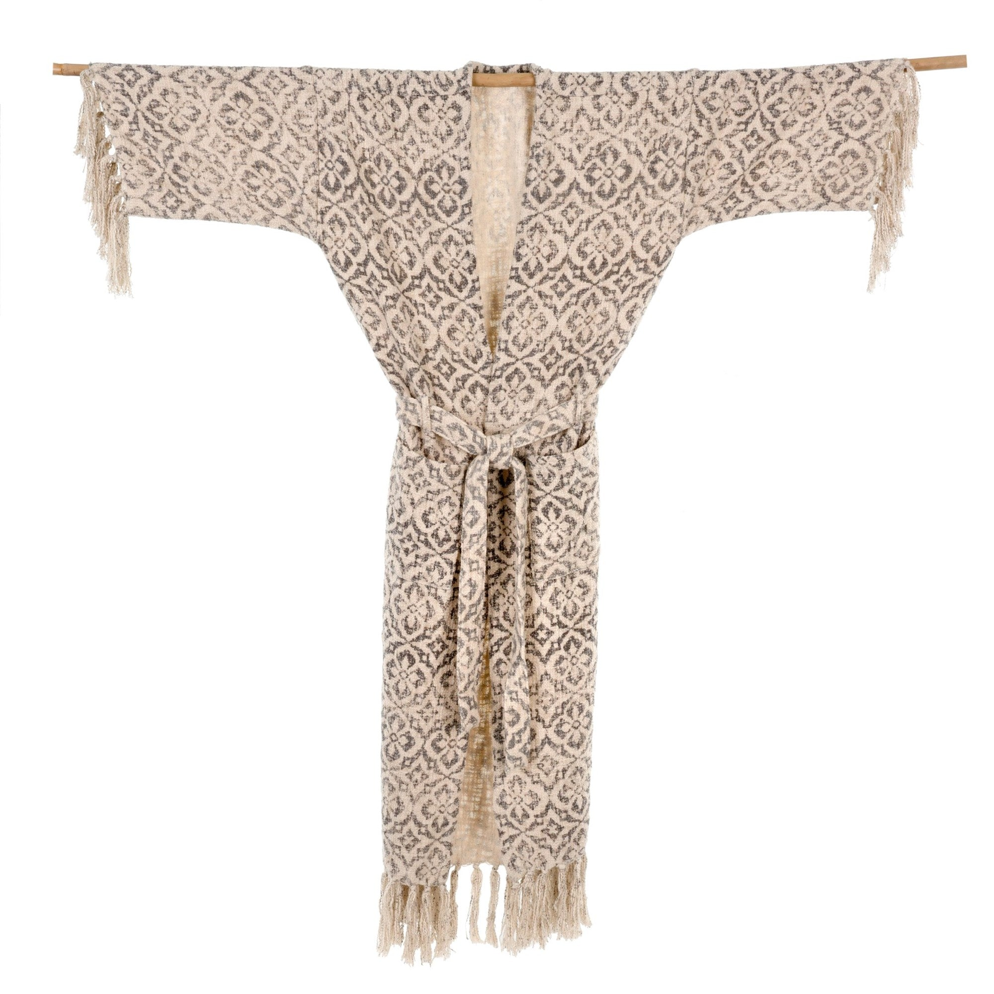 Woven Cotton Tassel Robe, IT-Indaba Trading, Putti Fine Furnishings