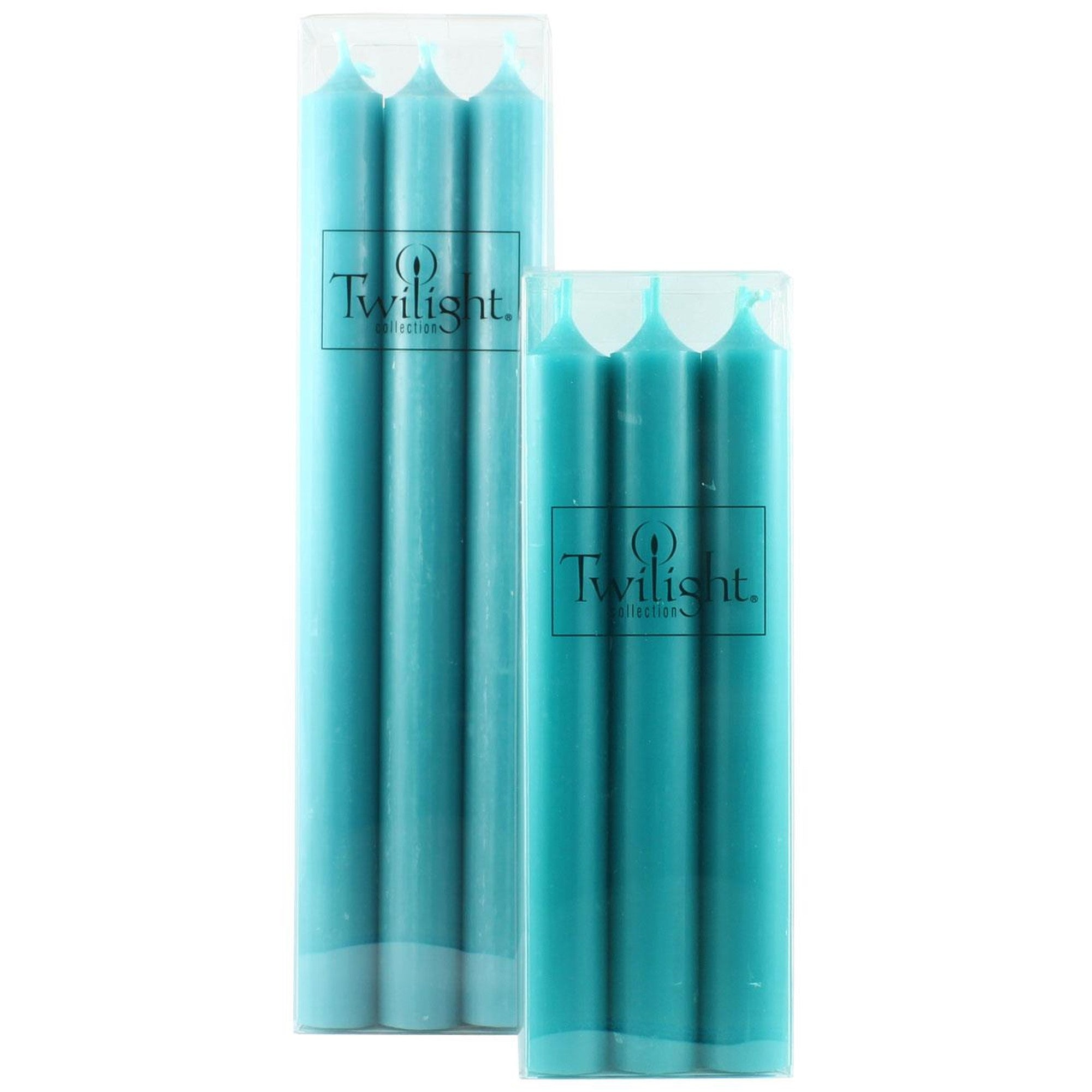 Twilight Taper Candles - Turquoise