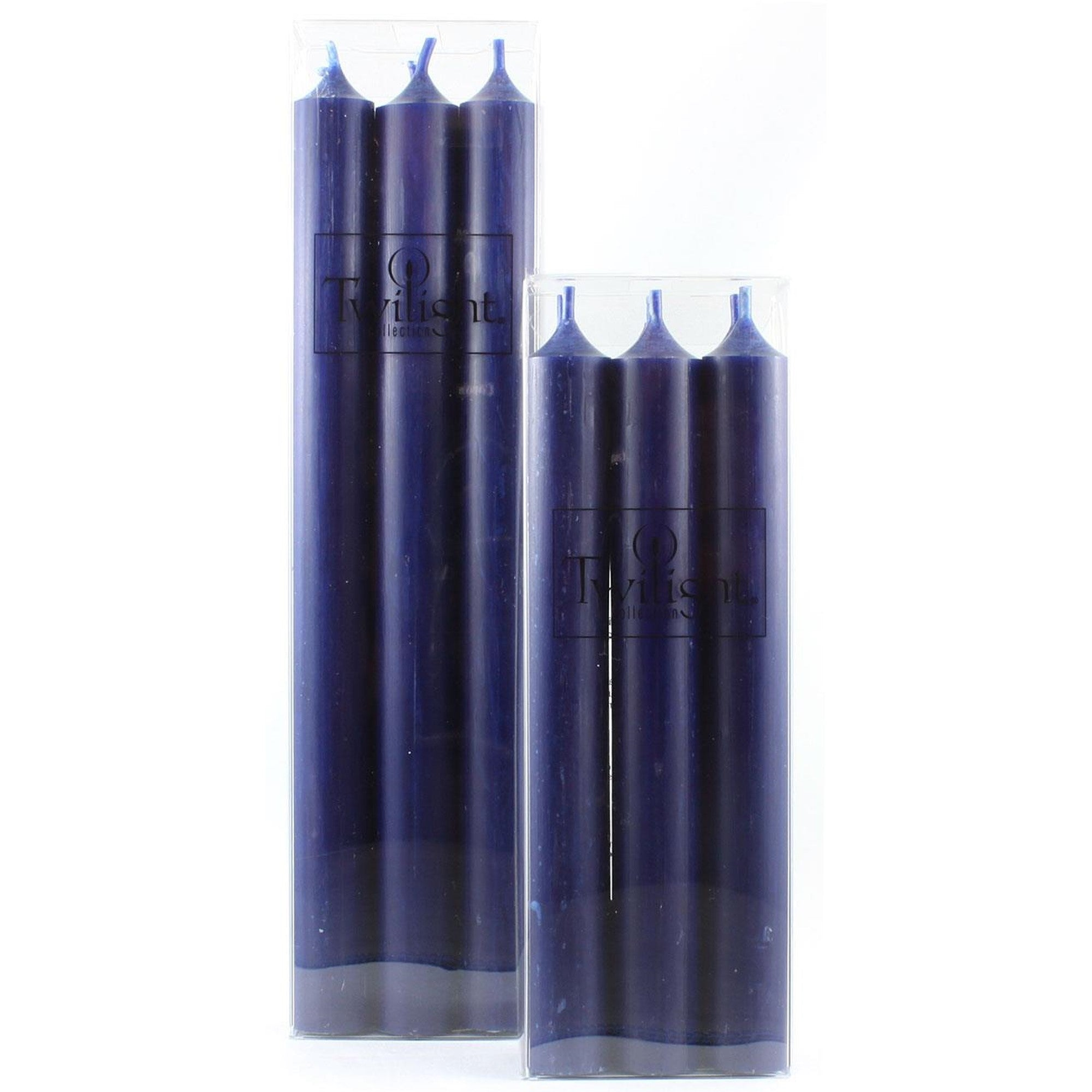 Twilight Taper Candles - Navy Blue