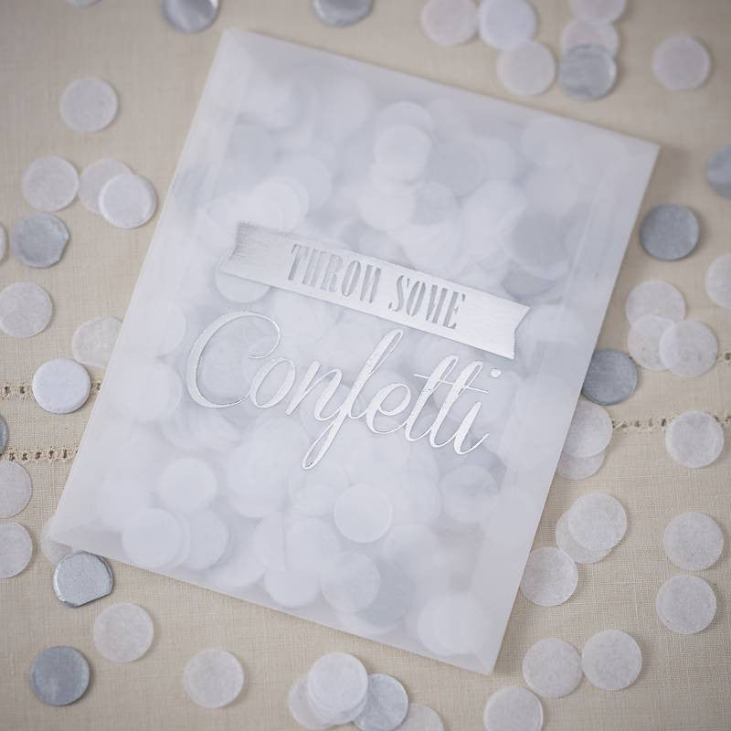 Vintage Style Confetti Envelopes - Silver, GR-Ginger Ray UK, Putti Fine Furnishings