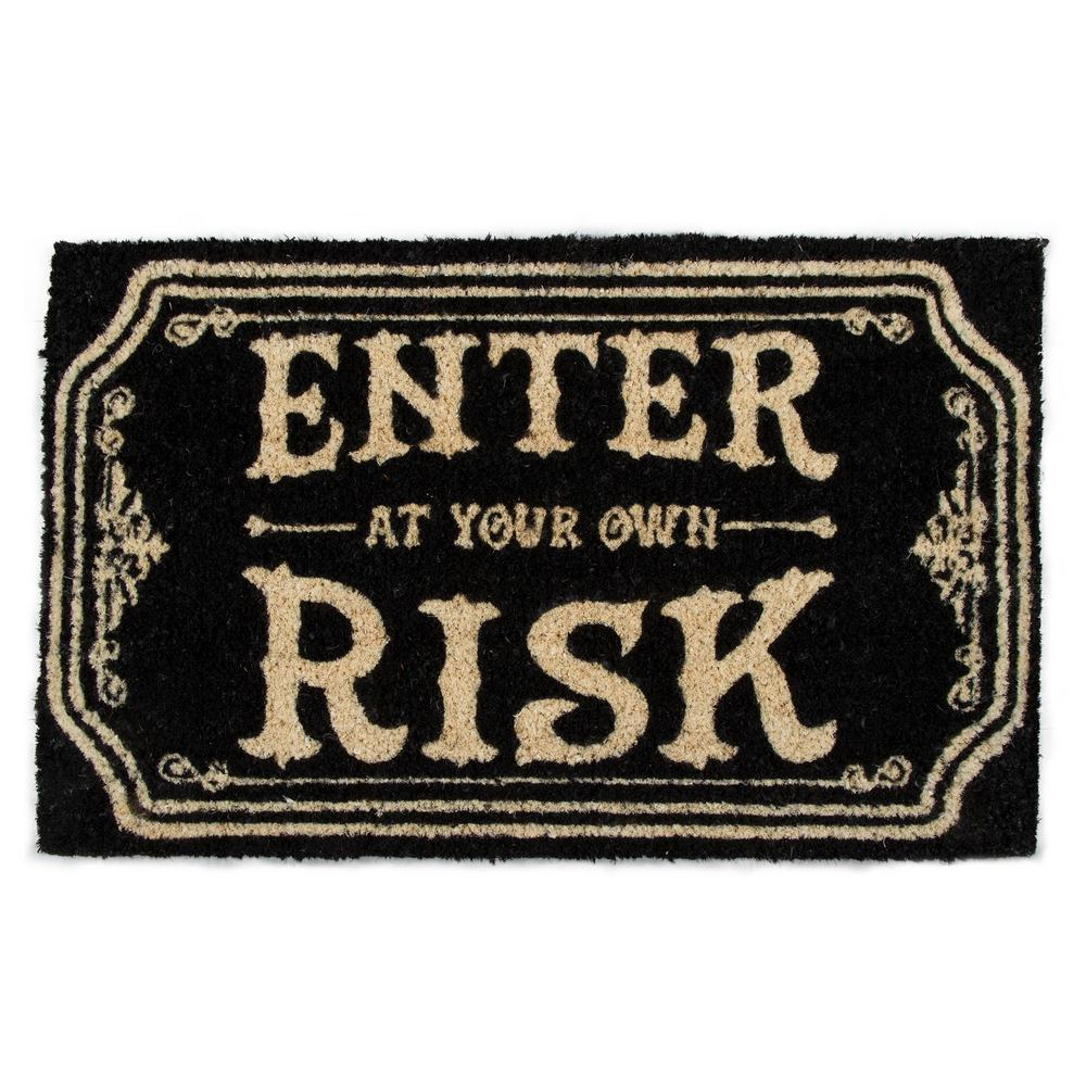 Enter at Your Own Risk Coir Doormat, TAG-Design Home Associates, Putti Fine Furnishings