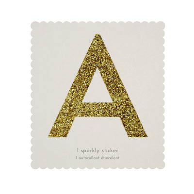 Chunky Gold Glitter A Sticker -  Party Supplies - MM-Meri Meri UK - Putti Fine Furnishings Toronto Canada - 1