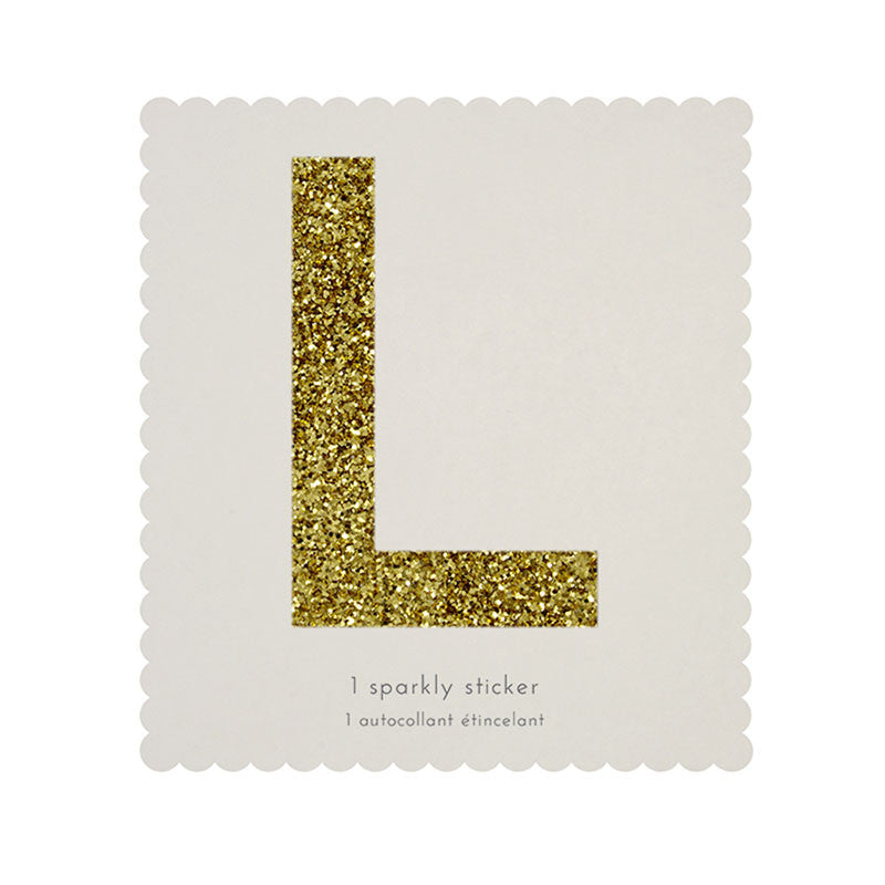 Chunky Gold Glitter L Sticker -  Party Supplies - MM-Meri Meri UK - Putti Fine Furnishings Toronto Canada