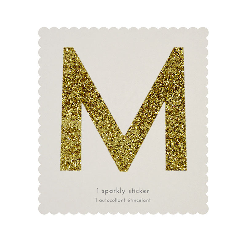 Chunky Gold Glitter M Sticker -  Party Supplies - MM-Meri Meri UK - Putti Fine Furnishings Toronto Canada