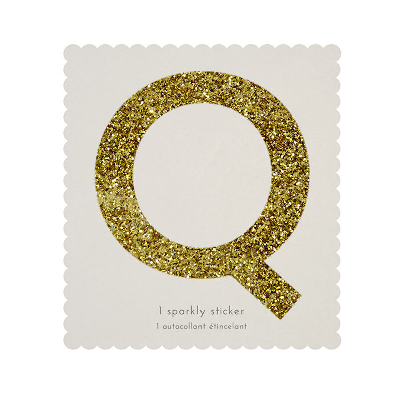 Chunky Gold Glitter Q Sticker -  Party Supplies - MM-Meri Meri UK - Putti Fine Furnishings Toronto Canada