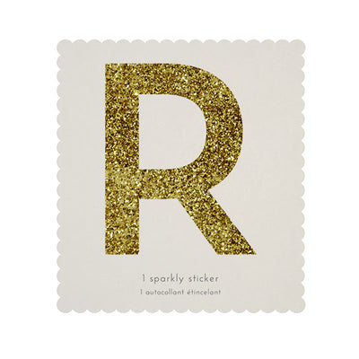 Chunky Gold Glitter R Sticker -  Party Supplies - MM-Meri Meri UK - Putti Fine Furnishings Toronto Canada