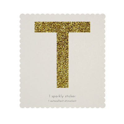 Chunky Gold Glitter T Sticker -  Party Supplies - MM-Meri Meri UK - Putti Fine Furnishings Toronto Canada