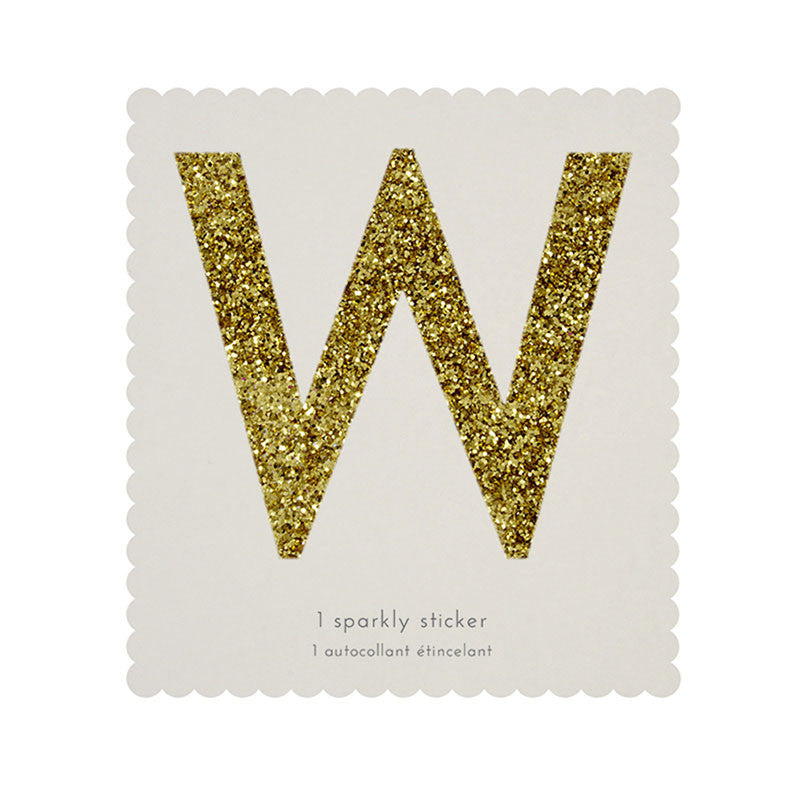 Chunky Gold Glitter W Sticker -  Party Supplies - MM-Meri Meri UK - Putti Fine Furnishings Toronto Canada