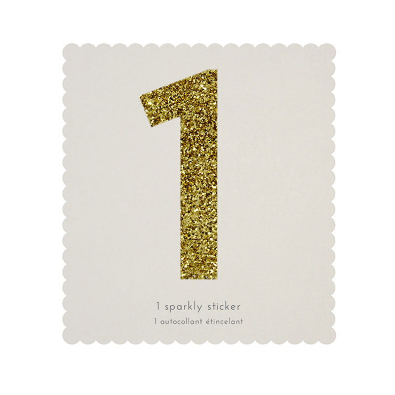 Chunky Gold Glitter One Sticker -  Party Supplies - MM-Meri Meri UK - Putti Fine Furnishings Toronto Canada