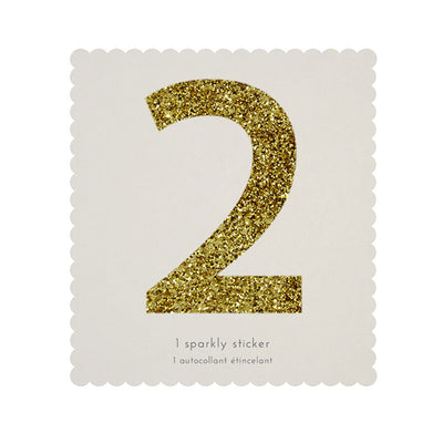 Chunky Gold Glitter Two Sticker -  Party Supplies - MM-Meri Meri UK - Putti Fine Furnishings Toronto Canada