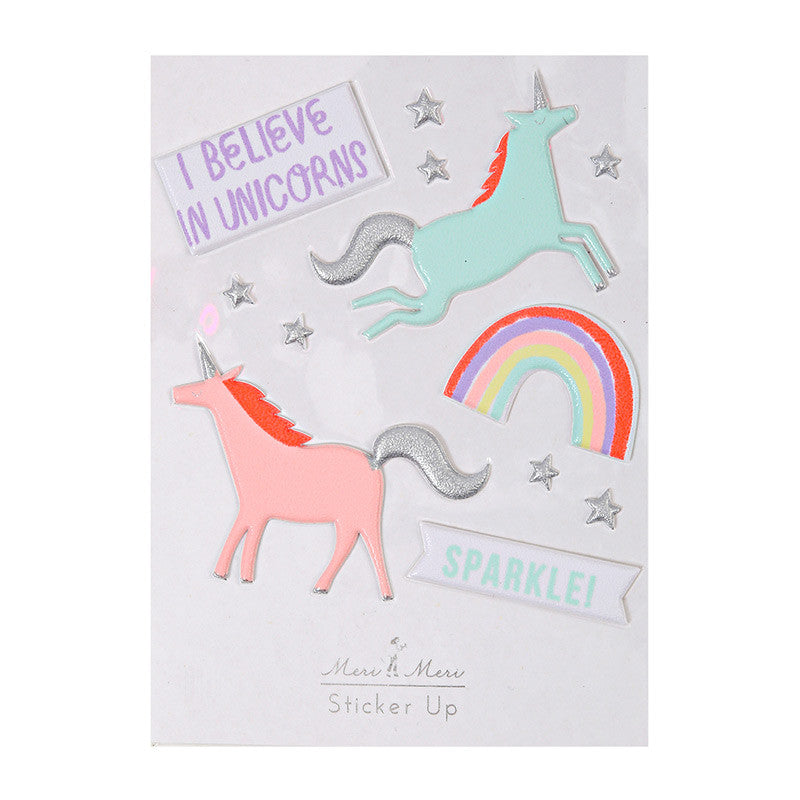 "Meri Meri ""I Believe in Unicorns"" Puff Stickers"