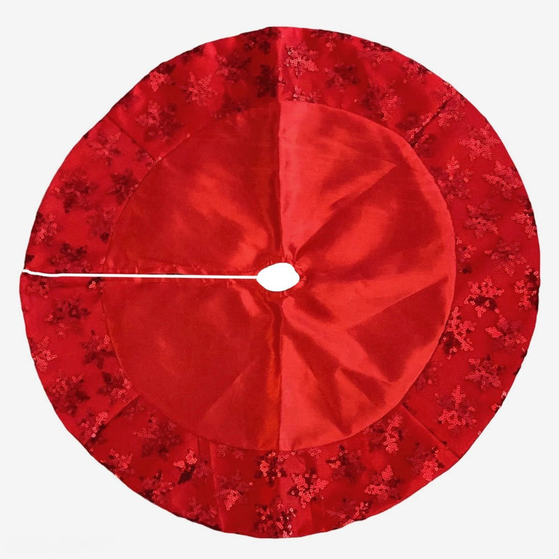 Kurt Adler Miniature Red Satin Snowflake Tree Skirt