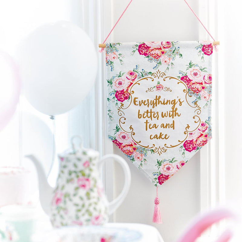 Arriving Soon! Truly Scrumptious Tea Party Banner -  Party Supplies - Talking Tables - Putti Fine Furnishings Toronto Canada - 1