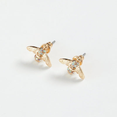Fable Gold Pave Bee Stud Earrings | Putti fine Fashions