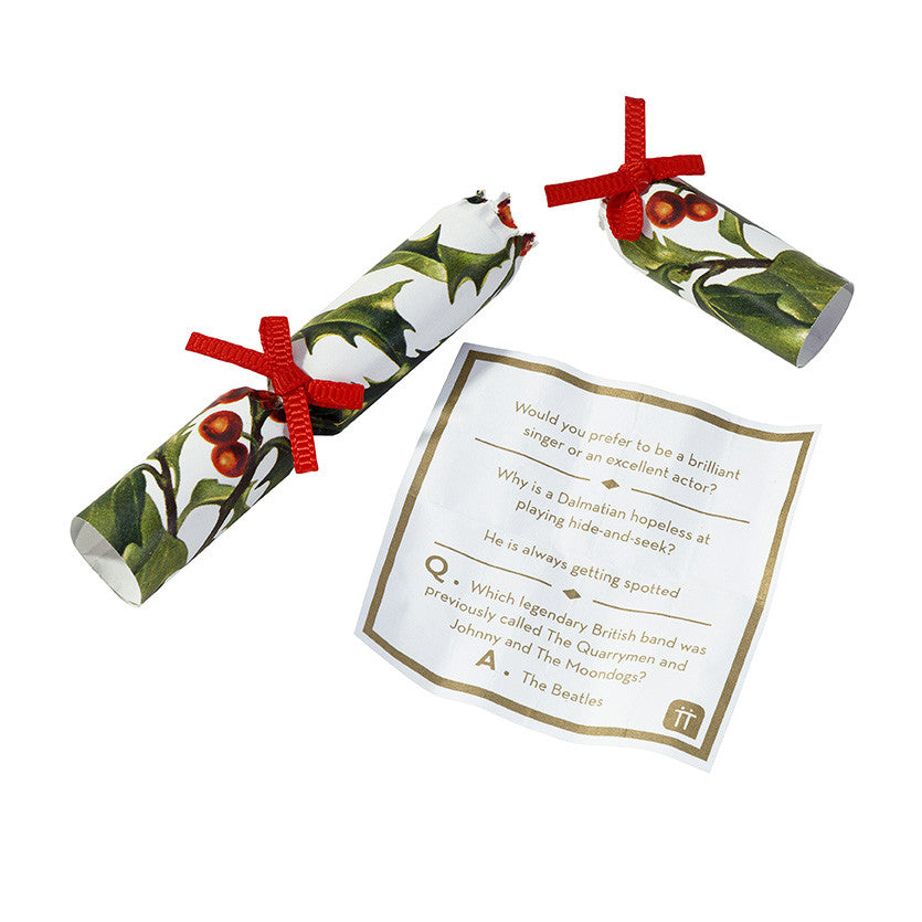 Botanical Christmas Saucer Crackers, TT-Talking Tables, Putti Fine Furnishings