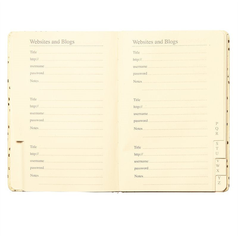 """Shhh"" Password Log Book, CRG-CR Gibson, Putti Fine Furnishings"