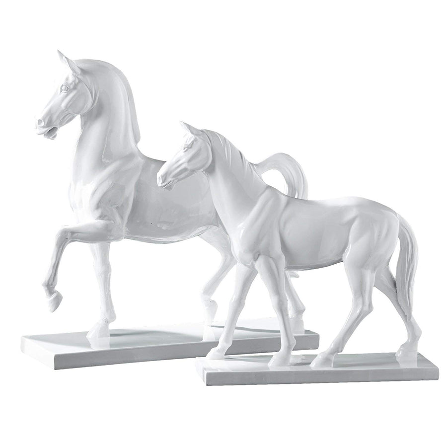 Decorative White Horses