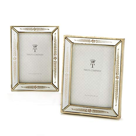 """Triomphe"" Etched Mirror Photo Frames"