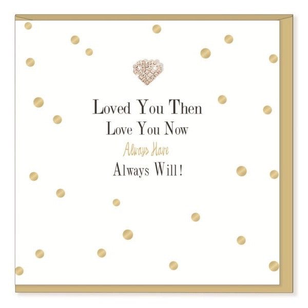 """Loved you then loved you now..."" Greeting Card 