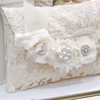 Miss Rose Sister Violet - Embellished Lace Clutch Bag, MRSV-Miss Rose Sister Violet, Putti Fine Furnishings
