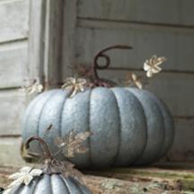 Kalalou Galvanized Metal Pumpkin