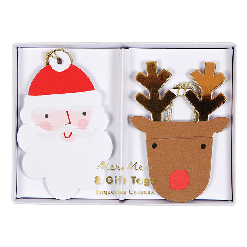 Meri Meri Santa & Reindeer Gift Tags, MM-Meri Meri UK, Putti Fine Furnishings