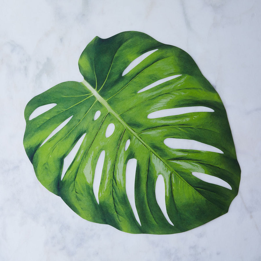 Hester & Cook Die Cut Monstera Leaf Placemat