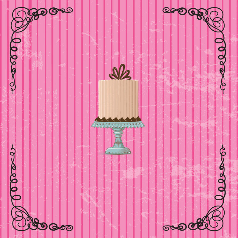 "Elise Pink ""Cake"" Beverage Napkin, Design Home, Putti Fine Furnishings"