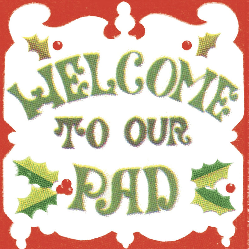 "Elise Retro 70's ""Welcome to Our Pad""  Beverage Napkins, CC-Creative Converting, Putti Fine Furnishings"