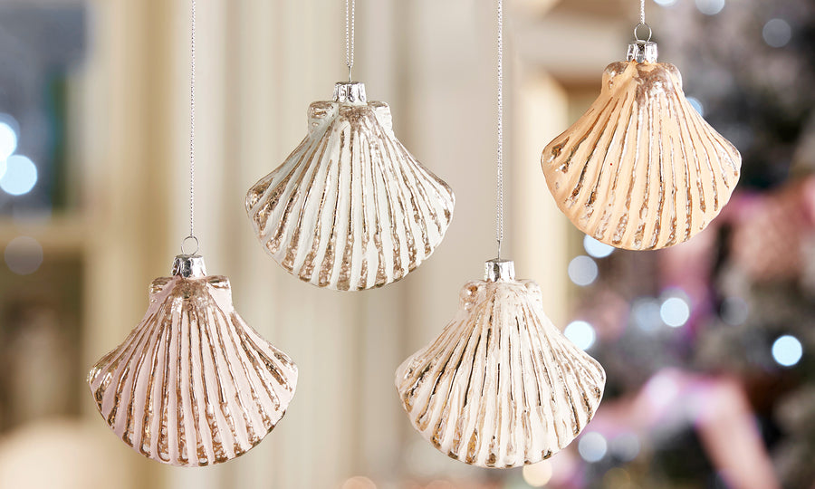Pastel Scallop Shell Ornament