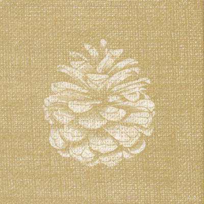 "Francoise Paviot ""Pinecone"" Cocktail Napkin - Gold"