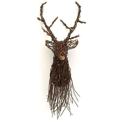 Twig Reindeer Head -  Accessories - BBL-Bacon Basketware Limited - Putti Fine Furnishings Toronto Canada