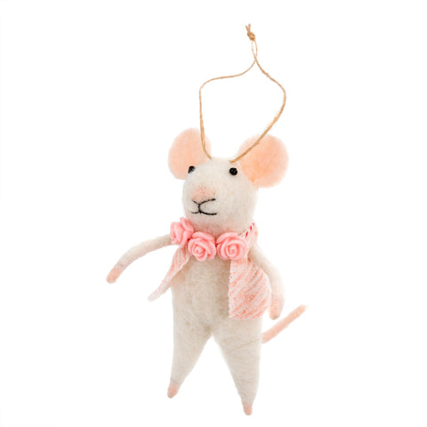 """Primrose"" Felted Mouse Ornament, IT-Indaba Trading, Putti Fine Furnishings"