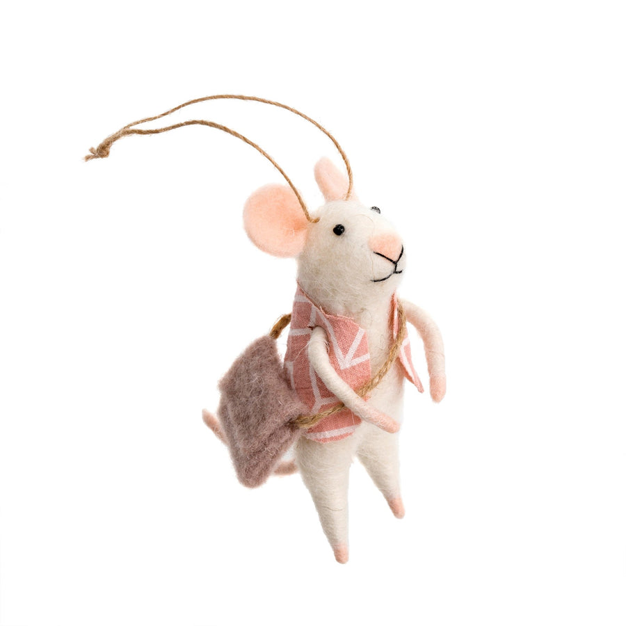 """Wandering Will"" Felted Mouse Ornament"