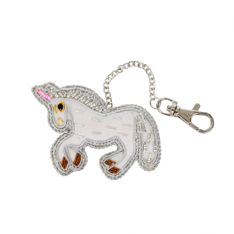Beaded Unicorn Keychain