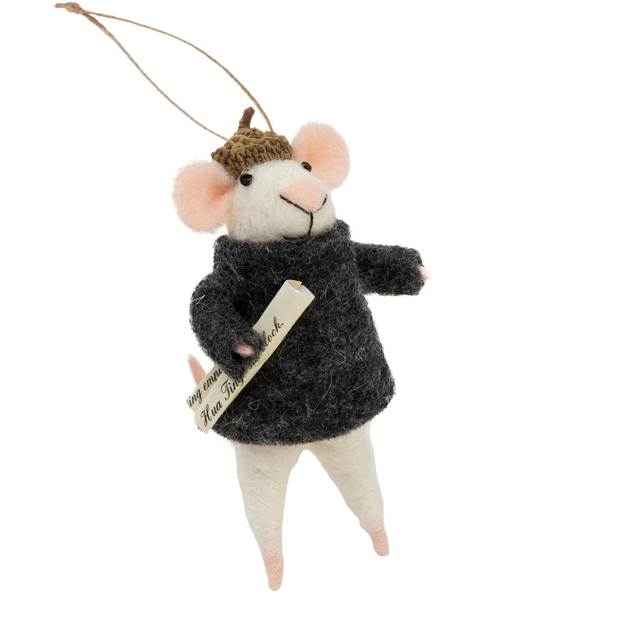 """Brooklyn"" Felted Mouse Ornament"