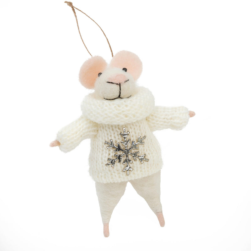 """Petunia"" Felted Mouse Ornament -  Christmas - IT-Indaba Trading - Putti Fine Furnishings Toronto Canada"