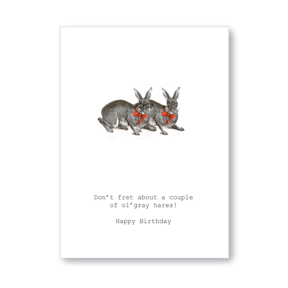"Tokyo Milk ""Don't Fret About A Couple Of Grey Hares "" Birthday Card 