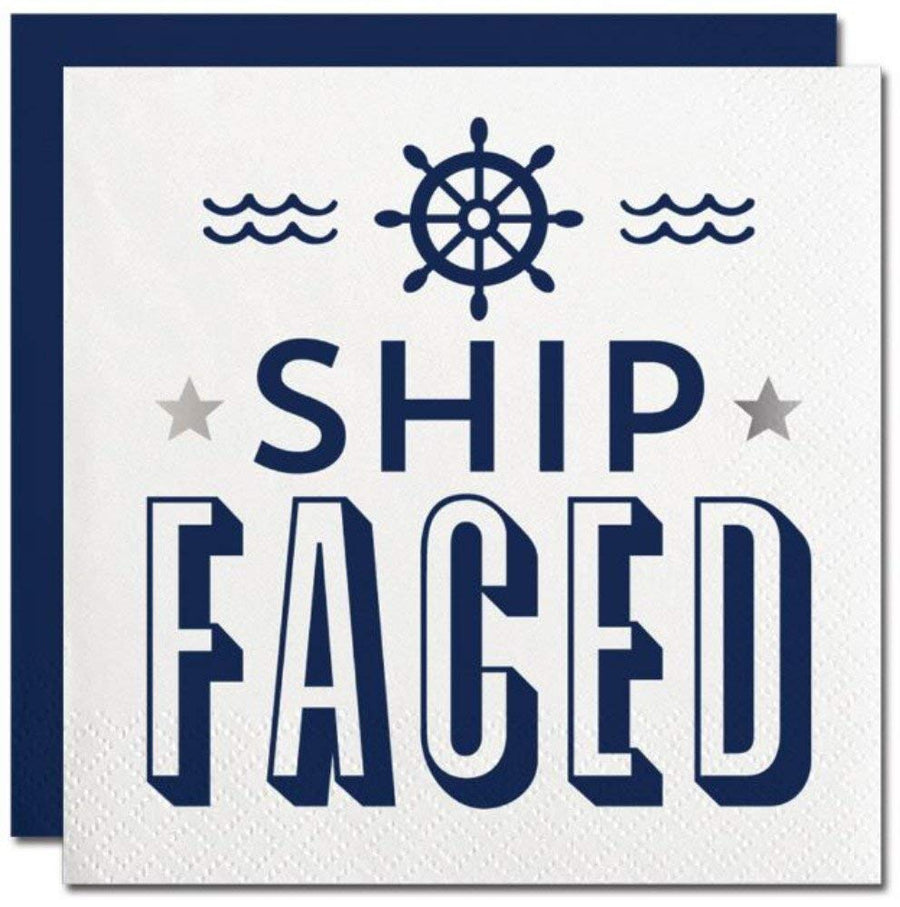 """Ship Faced"" Paper Napkins - Beverage"