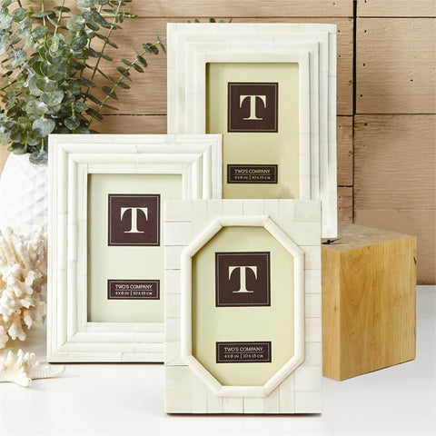 Bone Photo Frame-Accessories-TC-Two's Company-Putti Fine Furnishings