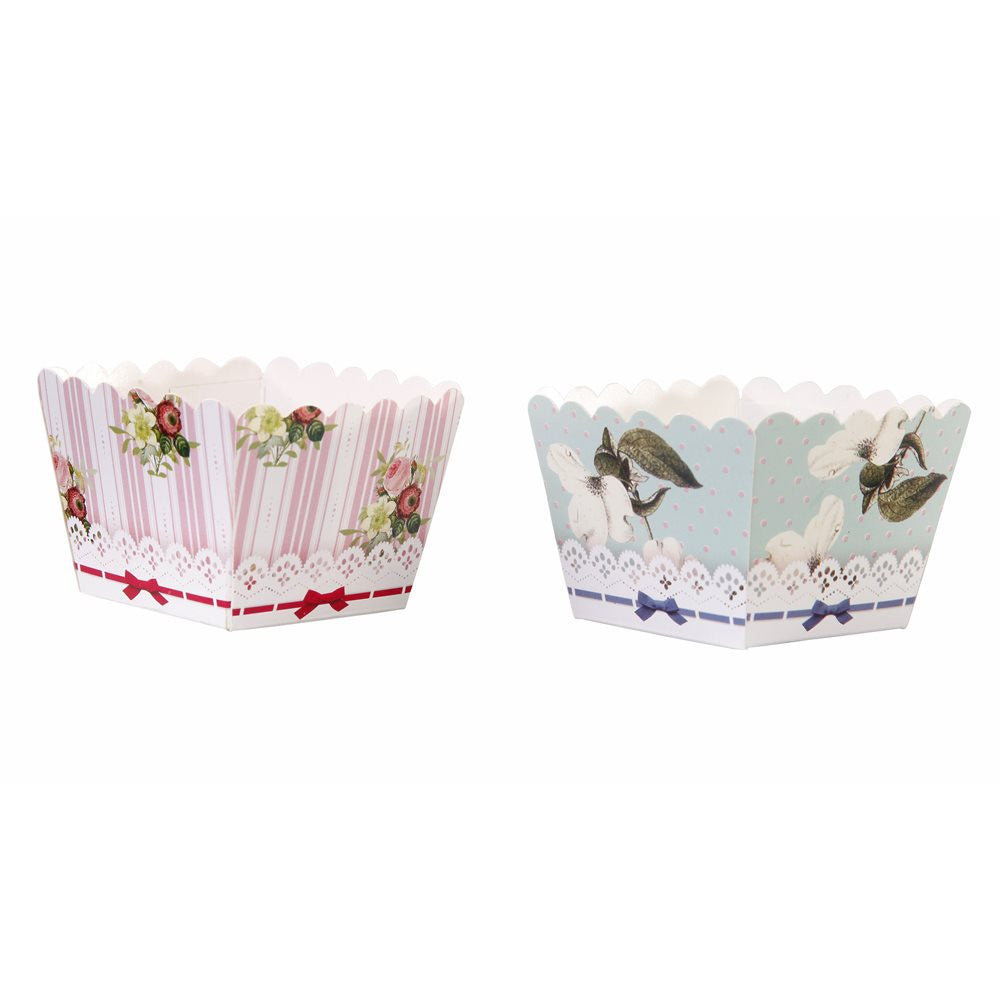 Frills and Frosting Square Treat & Baking Cups -  Party Supplies - Talking Tables - Putti Fine Furnishings Toronto Canada - 1