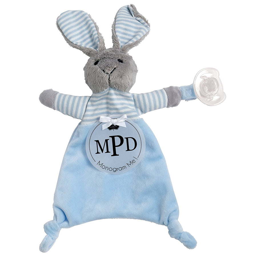 Mud Pie Chenille Bunny Snuggler  - Blue