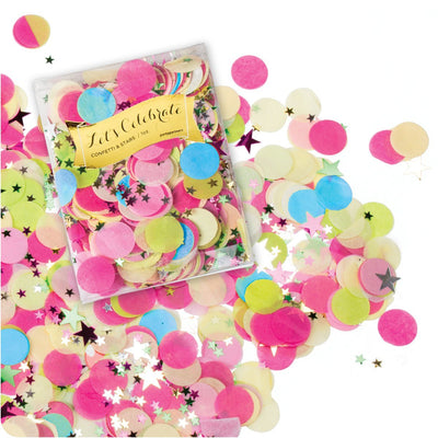Multicolour Tissue Confetti and Stars -  Party Supplies - Party Partners - Putti Fine Furnishings Toronto Canada - 1